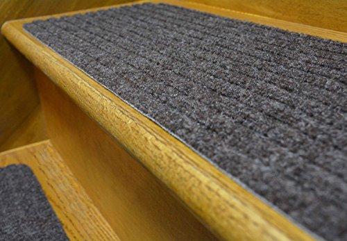 Stair Treads Collection Indoor Skid Slip Resistant Carpet Stair Tread Treads (Dark Grey, Set of 13 (8 in x 30 in)) by RugStylesOnline (Image #6)