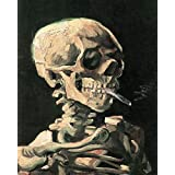 Posters: Vincent Van Gogh Poster Art Print - Skull With Burning Cigarette, 1886 (20 x 16 inches)