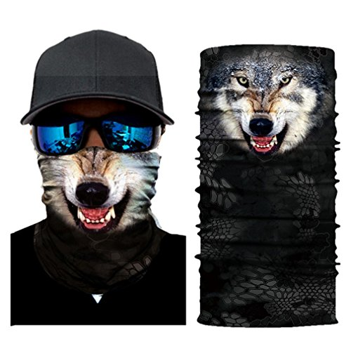 Price comparison product image Boofab Stretchable Face Shield Mask Guards Balaclava Headwear for Camping,  Running,  Cycling,  Biking,  Motorcycling,  Fishing,  Hunting,  Yard working And Sun UV Protection,  Great for Men & Women (C)