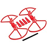 Favrison Red Quick-Release Safe Detachable Propeller Props Protective Guard with Landing Gear for DJI Spark
