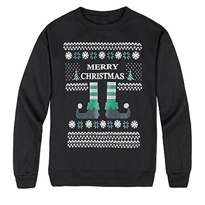 Wholesale lymanchi Women Ugly Christmas Sweatshirt Xmas Fleece Sweater Snowflakes Round Neck Long Sleeve Pullover hot sale