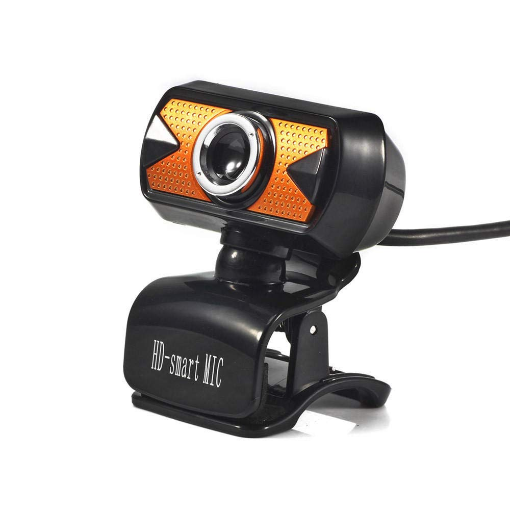 TFXHGGM Caméra Web Webcam USB 2.0 HD avec microphone LED pour PC portable