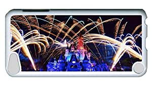 Rugged iPod Touch 5 Case, Fireworks At Cinderella Castle On Christmas Eve PC White Plastics Hardshell Case for iPod Touch 5 /iPod 5/ iPod 5th Generation