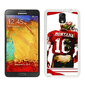 Joe Montana White New Recommended Design Samsung Galaxy Note 3 Phone Case