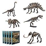 5 Different Dinosaur Skeleton Puzzles Model Set, DIY Skeleton Dinosaur Toys for Kids Ages 6 and Up