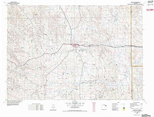 YellowMaps Gillette WY topo map, 1:100000 Scale, 30 X 60 Minute, Historical, 1972, Updated 1975, 27.2 x 35.8 in - Polypropylene