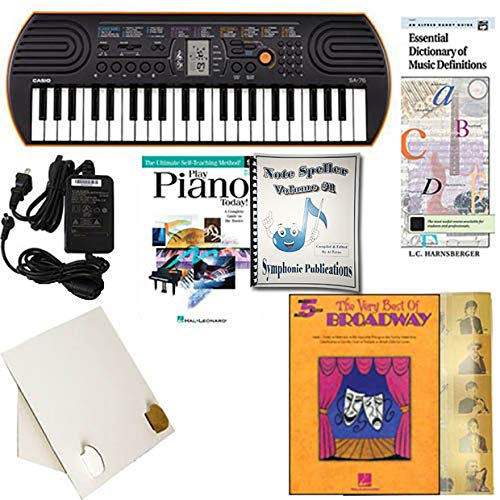 (Homeschool Music - Piano Pack (Best of Broadway) W/Casio SA76 Keyboard w/Adapter, learn 2 Play DVD/Book, Symphonic Note Speller Vol. 1 & All Learning Essentials)