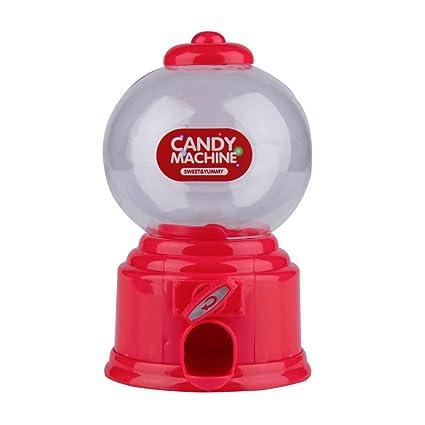 Maquina dispensadora de chuches diseño Retro Color Rojo para chicles, Caramelos, gominolas, invitad