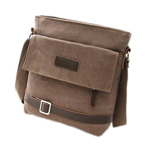 Zeroral Men Canvas Bag Multi-Purpose Fashion Handbags Office Single Shoulder Bags Coffe