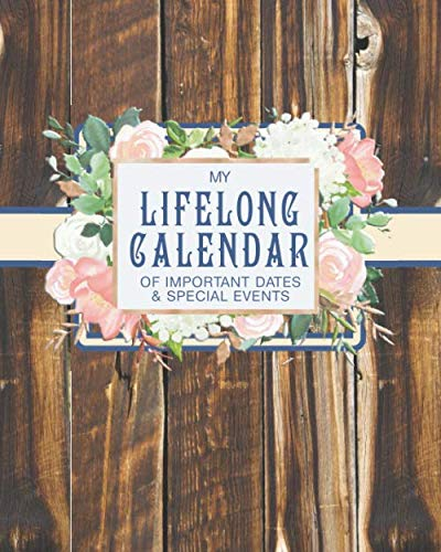 My Lifelong Calendar of Important Dates & Special Events: Christian Perpetual Calendar Date keeper Reminder for Birthdays, Anniversaries and Memories with Bible Verses (Important Dates)