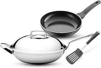 德国WMF福腾宝新厨套装不锈钢中华炒锅意大利进口不粘煎锅