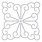 Jack Dempsey Stamped White Quilt Blocks, 18-Inch by 18-Inch, XX Vintage Design, 6-Pack