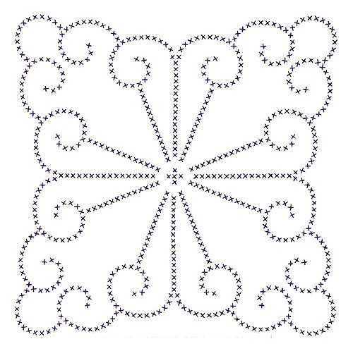 Jack Dempsey Stamped White Quilt Blocks, 18-Inch by 18-Inch, XX Vintage Design, 6-Pack Hoop Quilt Block
