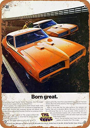 - PaBoe 12 x 16 Metal Sign - Pontiac GTO The Judge - Vintage Decorative Tin Sign