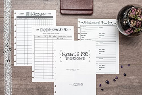 amazon com bill payment tracker for the happy planner account