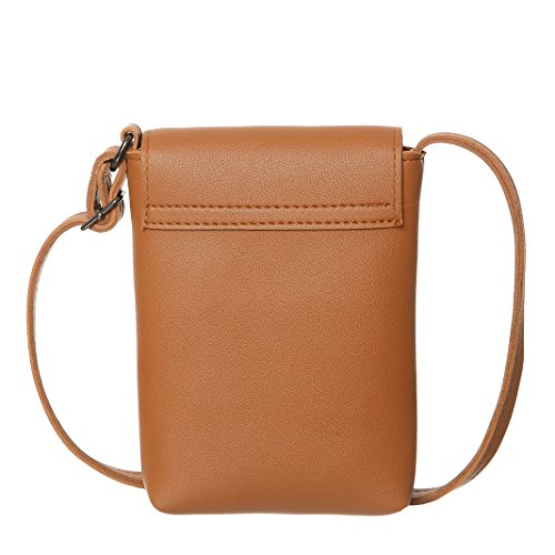 wallet AOCINA Small Phone Purse Brown Bag Synthetic Cell For Leather Crossbody Women 4qwXEx8