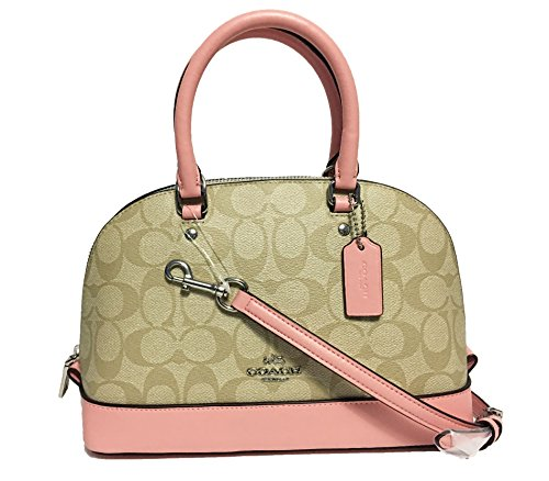 khaki Satchel Shoulder Handbag Mini Inclined Purse Sierra Shoulder Coach Women��s zxa161