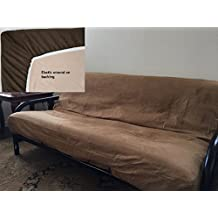OctoRose ® Full Size Elastic Bonded Micro Suede Easy Fit Fitted Futon Cover (Camel)