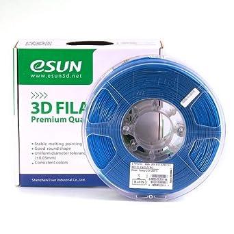 esun 3d impresora filamento ABS 1.75 mm 1 kg azul: Amazon.es ...