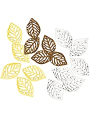 ORYOUGO 150 Pieces Hollow Leaf Charms Ornaments Pendant Decorations Metal Crafts for Jewelry Making DIY Earing Jewelry Handmade Hairpin Headwear Earring
