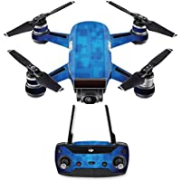 Skin for DJI Spark Mini Drone Combo - Blue Retro| MightySkins Protective, Durable, and Unique Vinyl Decal wrap cover | Easy To Apply, Remove, and Change Styles | Made in the USA
