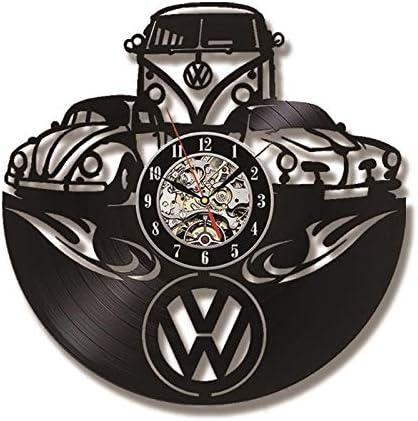 Gifts for Women Mens Vintage Car Lovers Volkswagen Decor 30cm Vinyl Record Wall Clock