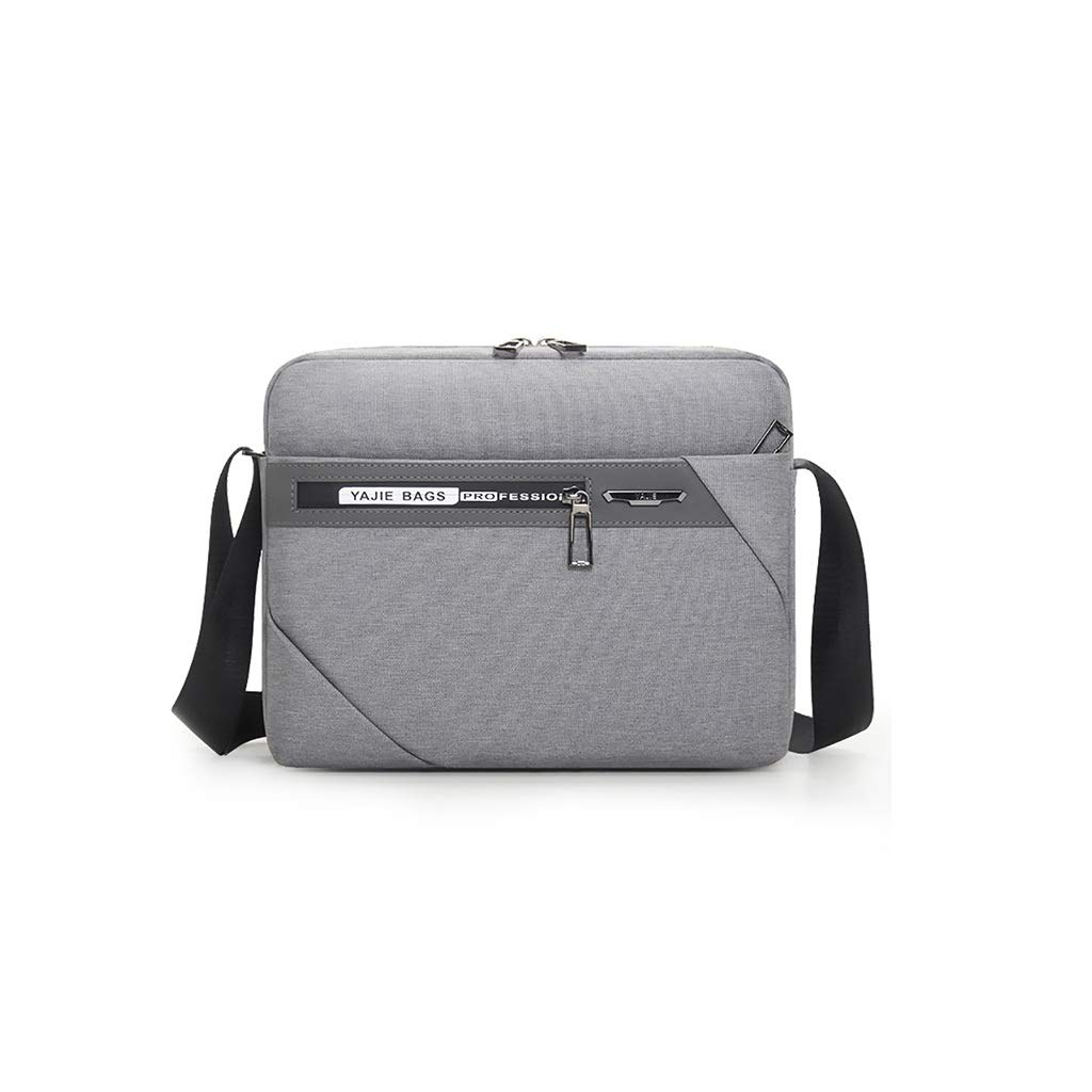 QSJY File Cabinets Men's Portable Waterproof Computer Bag 11 inch Oxford Cloth Leisure Business Bag 29×23×6CM (Color : Gray, Size : 29×23×6CM) by QSJY File Cabinets