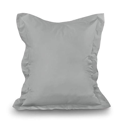 Puf XL de XXXXL Asiento Cojín Cojín de suelo Saco de en Y Exterior, gris, XXL=160 x 120