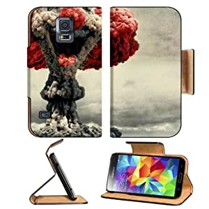 Bombs Smiling Colors Clown Nuclear Samsung Galaxy S5 SM-G900 Flip Cover Case with Card Holder Customized Made to Order Support Ready Premium Deluxe Pu Leather 5 13/16 inch (148mm) x 2 1/8 inch (80mm) x 5/8 inch (16mm) MSD S V S 5 Professional Cases Access