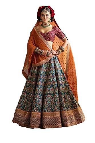 - REKHA Ethnic Shop Designer Lehenga Choli Party Wear Lehenga Choli Bridal Lehenga Choli Wedding Lehenga 17