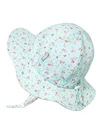 Jan & Jul Baby Sun-Hat, 50+ UPF Cotton, Adjustable Chin-Strap, Wide Brim, Toddler Girls, Kids