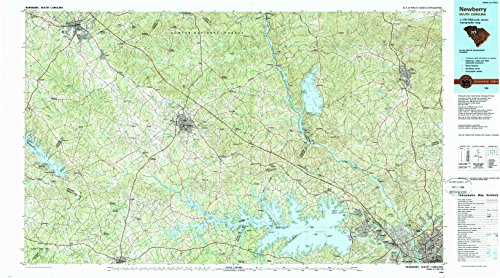 Newberry SC topo map, 1:100000 scale, 30 X 60 Minute, Historical, 1986, updated 1989, 24.1 x 43.4 IN - - Newberry Oaks