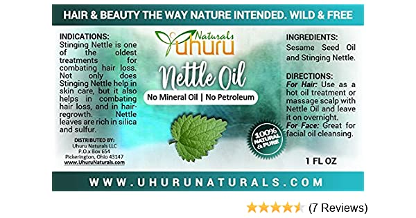 Nettle Oil 1 ounce bottle