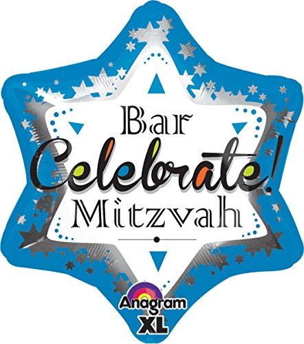 Anagram-International-Bar-Mitzvah-Blue-Jr-Shape-Balloon-21-Multicolor