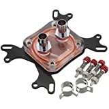 CPU Water Cooling Block Waterblock 50mm Copper Base Cool Inner Channel