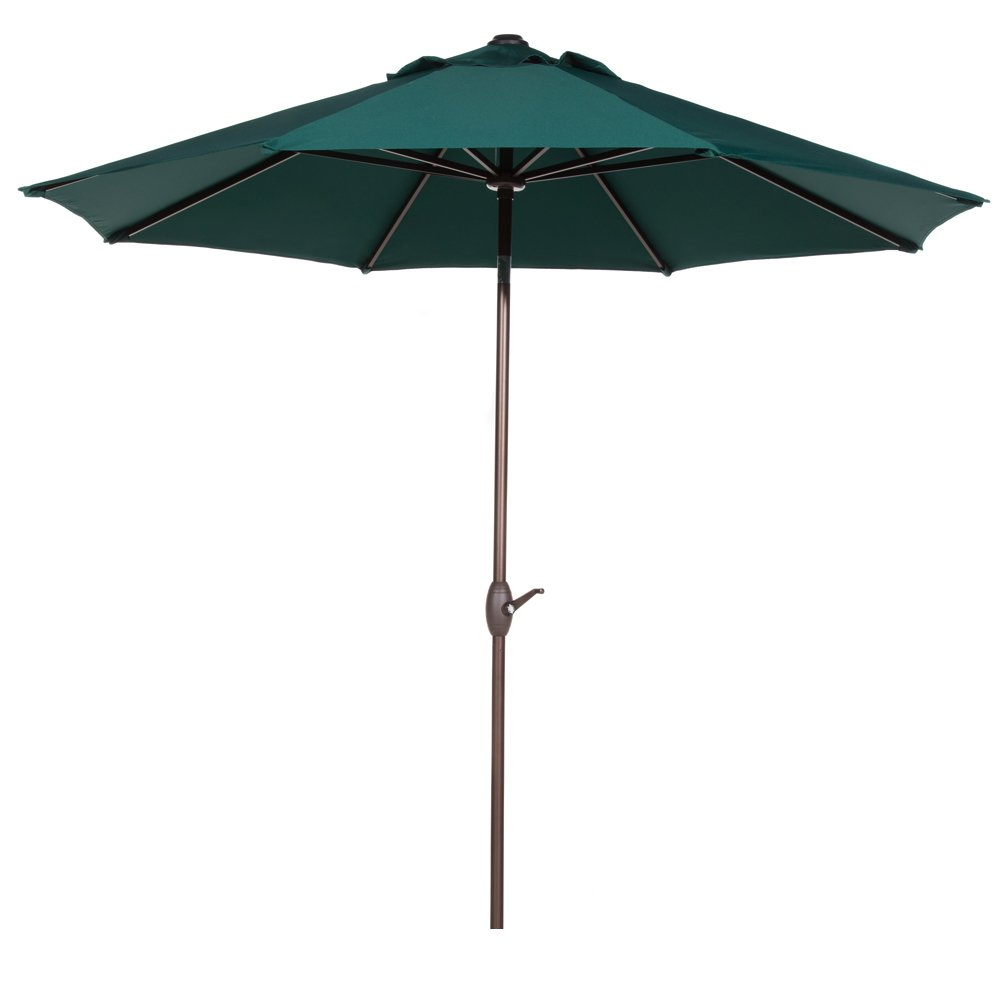 Patio Umbrella For Table: 9 Ft 100% Polyester Outdoor Patio Market Table Umbrella