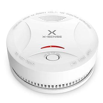Alarma de Humo X-SENSE SD13, Detector Fotoeléctrico de Humo con Alarma de Incendio