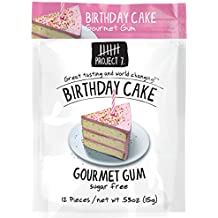 Project 7 Sugar Free Gum, Birthday Cake, 12 Pouches, 144 Pieces Total
