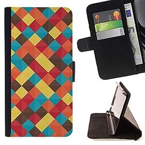 For HTC Desire 820 Case , Trullo en colores pastel amarillo Colores Manta- la tarjeta de Crédito Slots PU Funda de cuero Monedero caso cubierta de piel