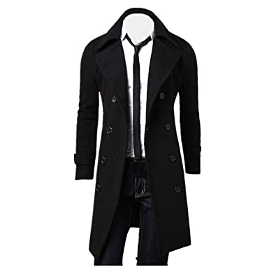 Jacket Winter Men's Long Izhh Classic Breasted Overcoat Slim Double H5fwqtxAw