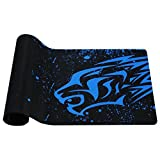 Blue Leopard-Exco Thick Smooth Extra Large XL Gaming Mat Smooth Surface Non-slip Rubber Mouse Pad with Designs for Office and Gamers