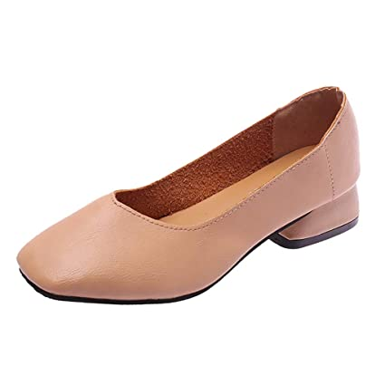 88148303caa83 Amazon.com: Iuhan Women Girls Slip on Square Head Single Shoes ...