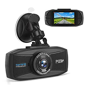 dash cam for cars peba super hd 1296p. Black Bedroom Furniture Sets. Home Design Ideas