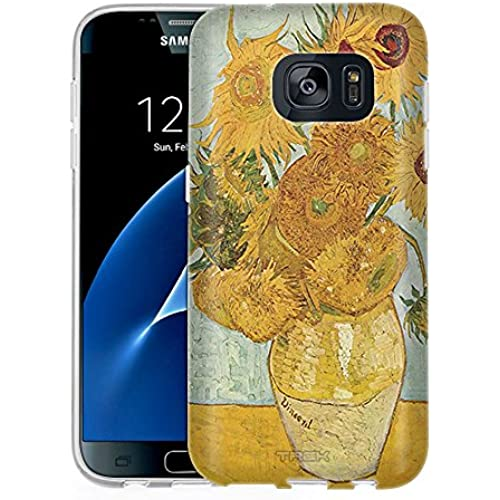 Samsung Galaxy S7 Case, Snap On Cover by Trek Van Gogh Vase with Twelve SunFlowers One Piece Slim Case Sales