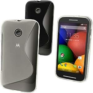 iGadgitz Clear S-Line TPU Gel Case for Motorola Moto E XT1021 + Screen Protector