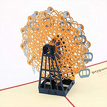 Amazoncom 3d Card Ferris Wheel 2 Pop Up Greeting Cards For