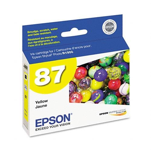 Epson UltraChrome Hi-Gloss 2 Pigment Yellow Ink Cartridge (T087420) (T087420 Yellow Ink)