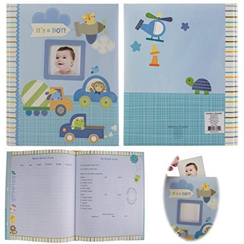 C.R. Gibson Stepping Stones Baby Memory Book For First Five Years Boys Or Girls - Cr Gibson Book
