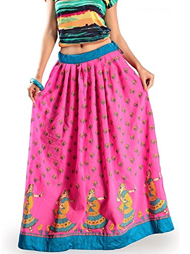Export Admyrin Skirt Pink Handicrfats Cotton Women Spun Indian Zwn650qEf