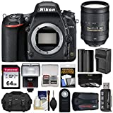Nikon D750 Digital SLR Camera Body with 28-300mm VR Lens + 64GB Card + Battery & Charger + Case + Filters + GPS + Flash Kit